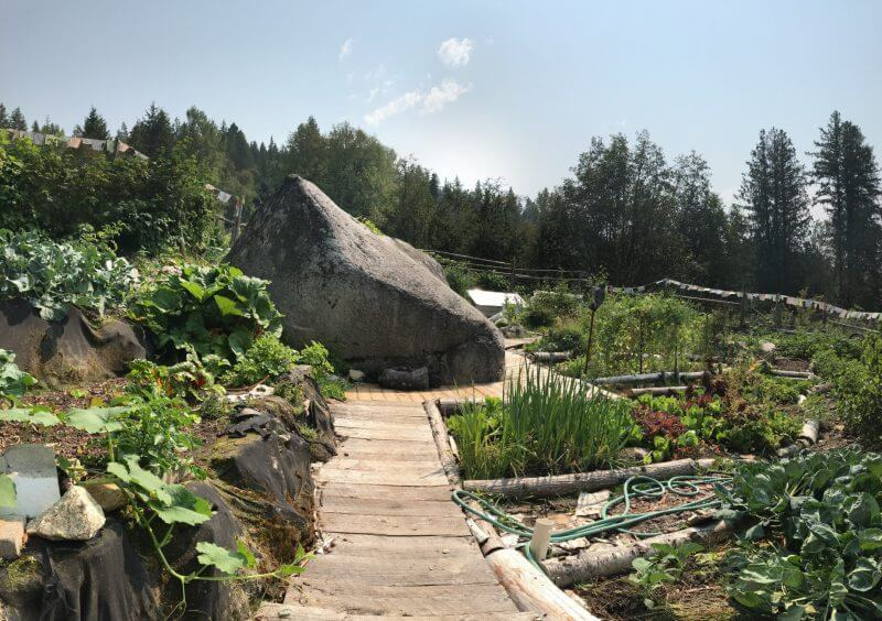 Walk through the Mountain Waters Retreats permaculture garden beds